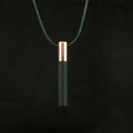 Lockstone One Pendant + Black Stone // Copper