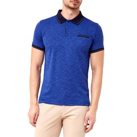 Collar Shirt // Bright Blue + Black