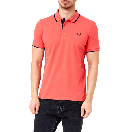 Collar Shirt // Red Orange