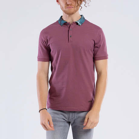 Tropical Collar Polo // Purple