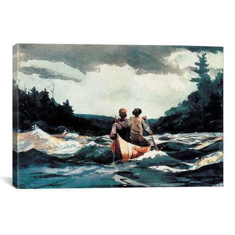 Canoe In The Rapids, 1897 // Winslow Homer
