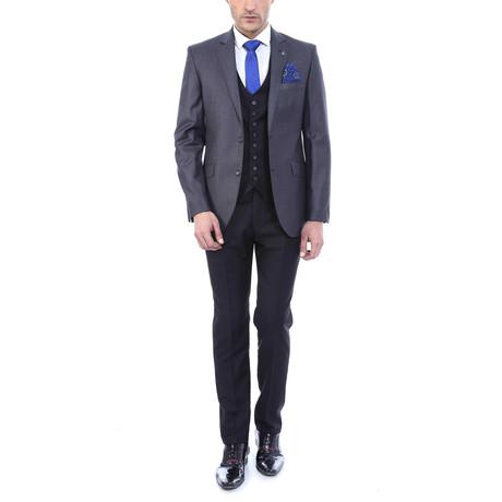 Garfield 3-Piece Slim Fit Suit // Smoke (US: 34R)