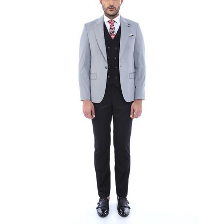 Rudolph 3-Piece Slim Fit Suit // Gray (Euro: 44)