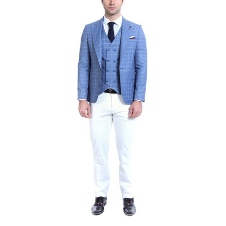 Leandro 2-Piece Slim-Fit Suit // Light Blue (Euro: 42)