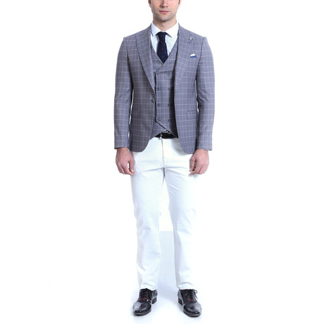 Cedrick 2-Piece Slim-Fit Suit // Gray (Euro: 42)