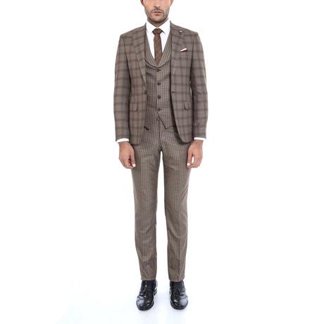 Randell 3-Piece Slim-Fit Suit // Mink (Euro: 44)