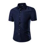 Short Sleeve Shirt // Blue + White Dots (S)