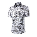 Short Sleeve Shirt // White Floral (XL)