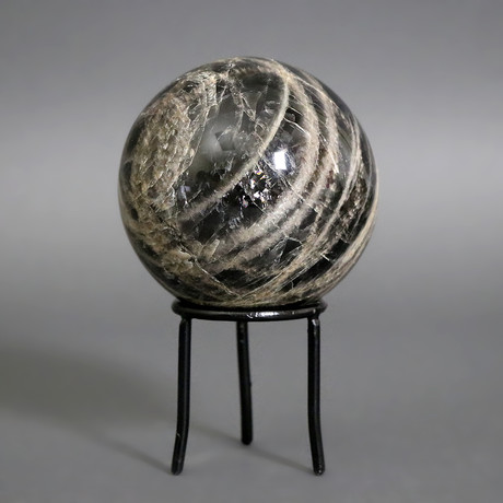 Black Moonstone Sphere // 4″