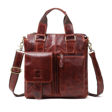 Leather Handle Bag // Red Oil