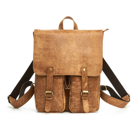 Leather Backpack // Brown // L156