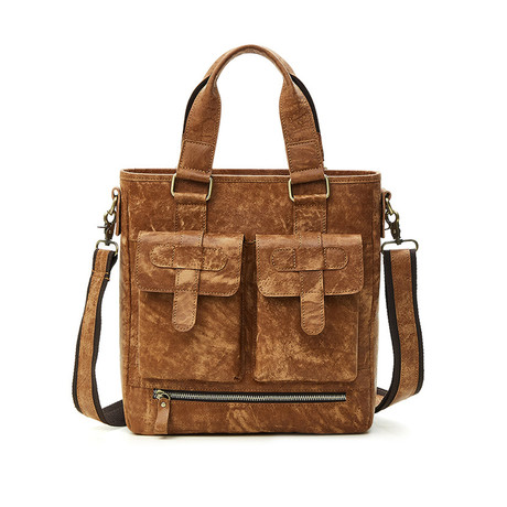 Leather Tote Bag // Brown // L165