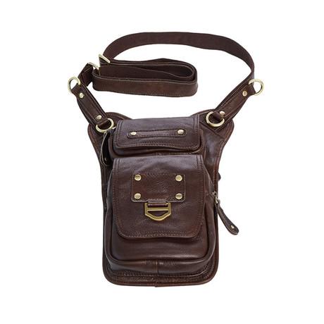 Leather Hip Bag // Coffe // L169