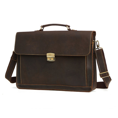 Leather Briefcase // Coffe // L168