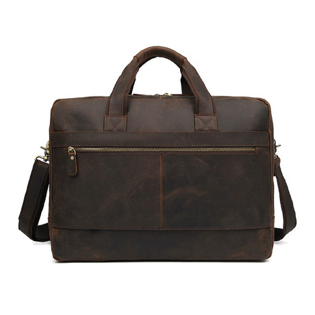 Leather Briefcase // Dark Brown