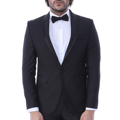 Robert Slim Fit 2-Piece Tuxedo // Black (Euro: 44)