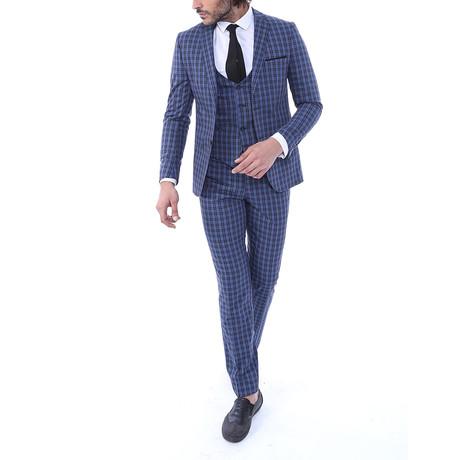 Hayden 3-Piece Slim-Fit Suit // Navy (Euro: 44)
