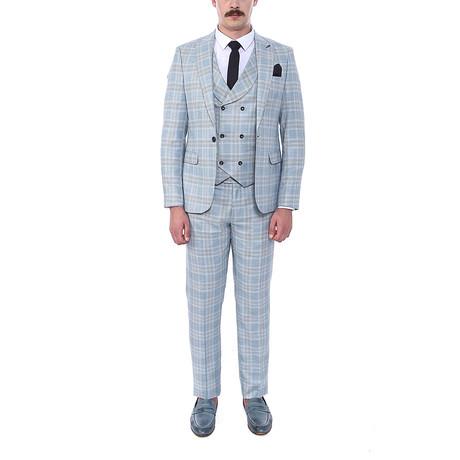 Carlisle 3-Piece Slim-Fit Suit // Light Turquoise (Euro: 44)