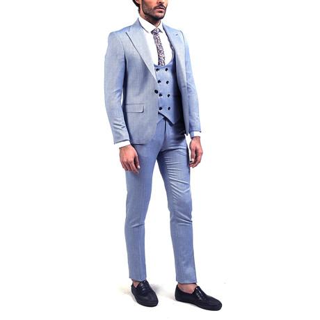 Sebastian 3-Piece Slim Fit Suit // Light Blue (Euro: 44)