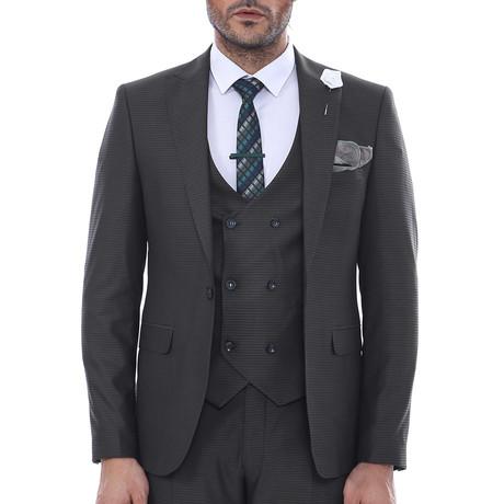 Nathaniel 3-Piece Slim Fit Suit // Charcoal (Euro: 44)