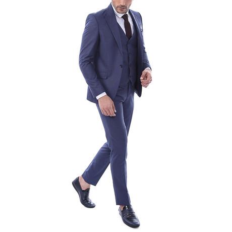 Jonah 3-Piece Slim Fit Suit // Navy (US: 34R)