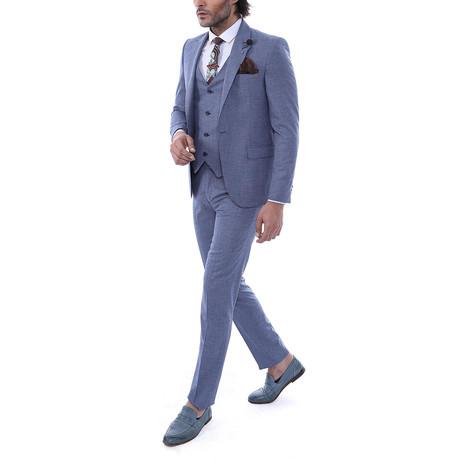 Kyle 3-Piece Slim Fit Suit // Blue (Euro: 44)