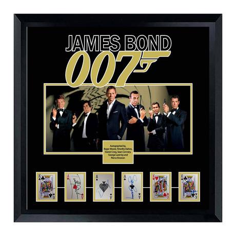 Signed + Framed Card Collage // James Bond