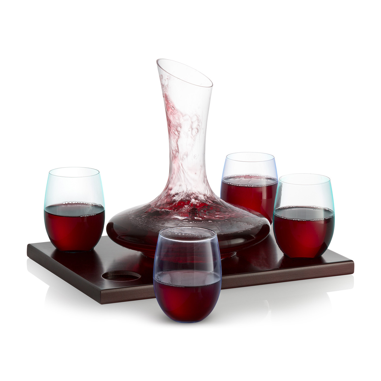 wine decanter set royal decanters touch of modern. Black Bedroom Furniture Sets. Home Design Ideas