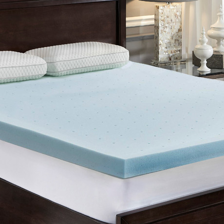 "LoftWorks // 3"" Jelly-Soft Gel Memory Foam Mattress Topper (Twin)"