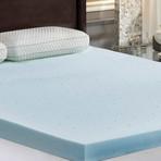 """LoftWorks // 3"""" Jelly-Soft Gel Memory Foam Mattress Topper (Twin)"""