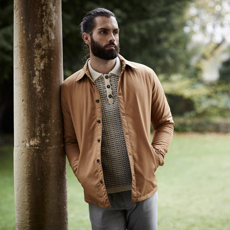 Cactus Quilted Shirt // Tan (S)