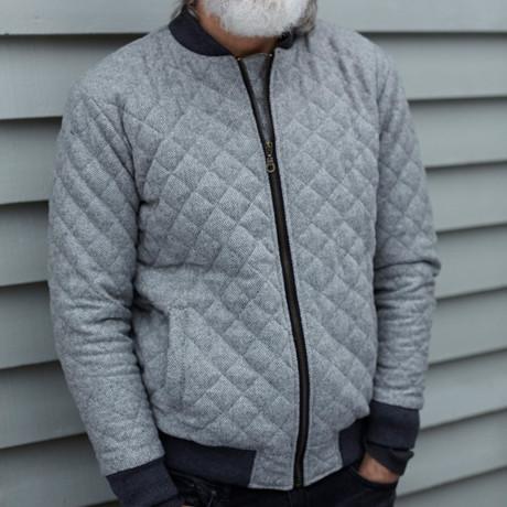 Wool Bomber Jacket // Grey (S)