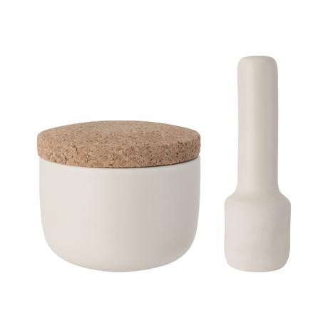 Leo Stoneware Mortar + Pestle