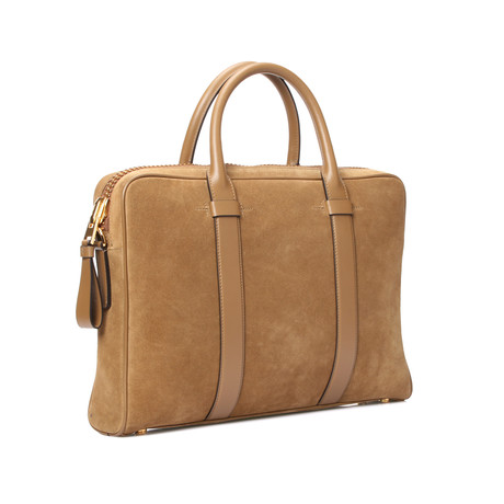 Tom Ford // Briefcase // Beige Suede