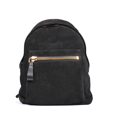 Suede Backpack // Black