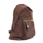 Suede Backpack // Brown