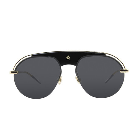 Dior DIO(R)EVOLUTION Sunglasses // Black + Gold + Dark Gray