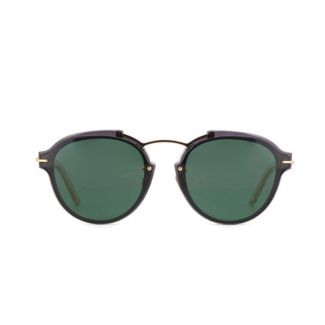 Dior // Men's DIORÉCLAT Sunglasses // Black + Blue Green