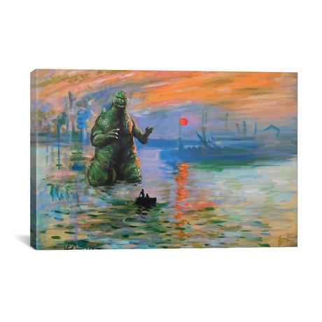 """Impression Kaiju (26""""W x 18""""H x 0.75""""D)"""
