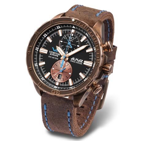 Vostok Europe Almaz Marine Bronze Chronograph Quartz // 6S11-320O266