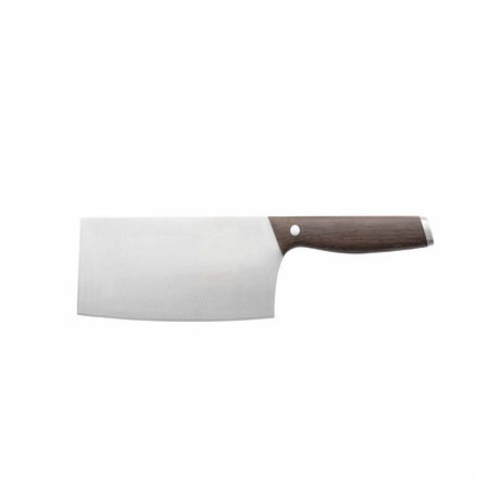 """Essentials Rosewood 6.5"""" Stainless Steel Cleaver"""