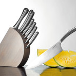 Concavo // 8 Piece Stainless Steel Knife Set + Block
