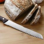 Essentials 7pc Stainless Steel Cutlery + Block Set // Rosewood