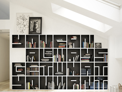 Saporiti Alphabet Bookcases Individual Character // Build Your Own (Letter A)