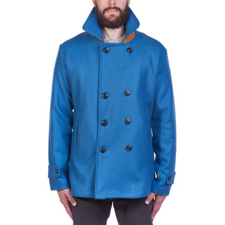 Pentile Wool Jacket // Petrol (S)