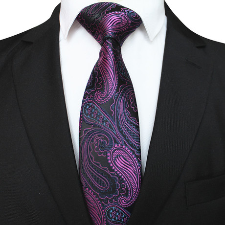 Mason Tie // Midnight Purple Paisley