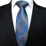 Leighton Tie // Gray + Blue Cross