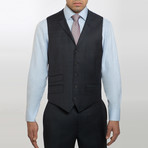 2BSV Notch Lapel Vested Suit Charcoal Windowpane (US: 36S)
