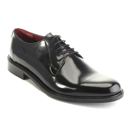 Hades Shiny Plain Toe Derby // Black (Euro: 40)