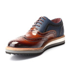 Achilles Oxford Dress Shoes // Tobacco + Dark Blue (Euro: 42)